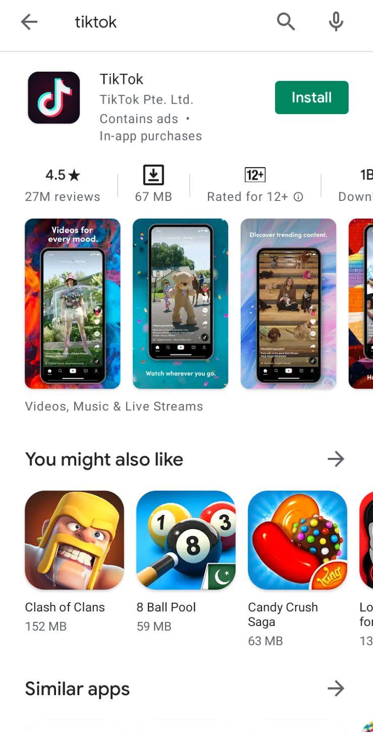 Download TikTok App 4